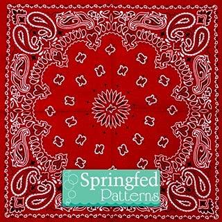 BANDANA PATTERN #1 Red Craft Vinyl 6x6 3 Sheets for Vinyl Cutters