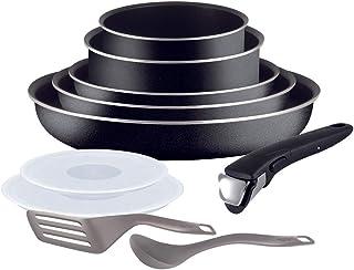 TEFAL INGENIO Batterie de cuisine set de 10 pieces Essential noir