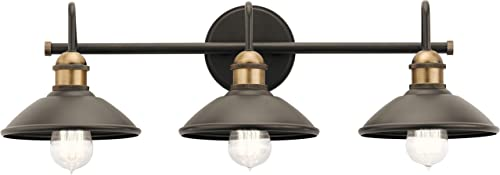 high quality Kichler outlet sale Lighting 45945OZ Three Light Bath wholesale from The Clyde Collection, 3, Olde Bronze outlet online sale