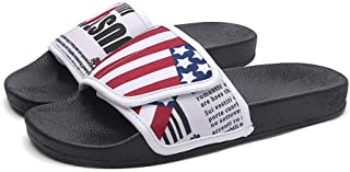 AUCDK Men Flip Flops Summer Sandal Open Toe Summer Slipper Flat Outdoor Casual Slipper