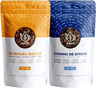 ASAP Detox Tea - 14 Day Natural Teatox - 28 Servings of Delicious Herbal Blends: Aid Digestion, Release Toxins, Reduces Bloating and Boost Metabolism - Laxative-Free - Natural Weight Loss Tea