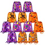 BeeGreen Halloween Drawstring Gift Bags Backpacks Halloween Candy Bags for Party Favor Supplies Cinch Sacks 12 Pack