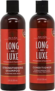 As I Am Long & Luxe Strengthening Shampoo + Conditioner 12oz Duo