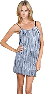 8b19d2ba3a Cheryl Creations Women s Short All-Over Fringe Flapper Sleeveless  Comfortable Day Night Mini Dress
