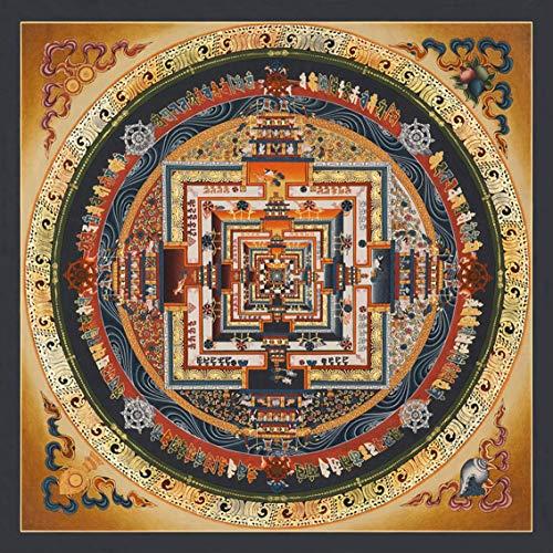 Thangka Kalachakra Mandala Druck Kunstdruck Reproduktion 60x60 cm