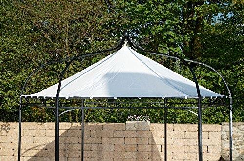 CLP Ersatzdach für 6 eckigen Pavillon | Textil-Dach Pavillon Manley + Dudley | Wetterschutz für Garten-Pavillon erhältlich Weiß
