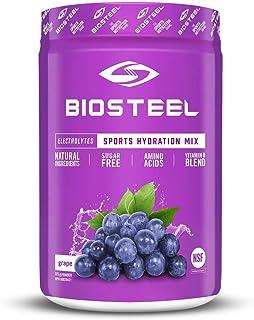 BioSteel Hydration Mix - Sugar Free, Essential Electrolyte Sports Drink Powder - Grape - 45 Servings