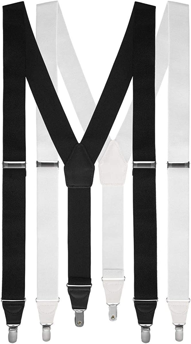 Men's Suspenders Adjustable Size with Clips