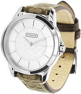 COACH Womens Classic Signature Strap Watch