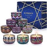 VICBAY 9 velas perfumadas de soja, regalo de Navidad para mujeres, duración de 180 horas, aroma de velas para amigas, mamá, mamá, esposa, hija, velas naturales para boda, baño y masaje