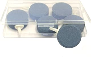 "JZMYXA Air Stone Bubbler Stone Fit for Aquarium Fish Tank, 6 Pieces, 1.6"", Round"