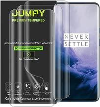 [عبوة من 3 قطع) JUMPY من أجل Oneplus 7 Pro / 1+7 Pro، [TPU] [صديق للحافظة] حماية رقيقة مرنة فائقة الوضوح مع ضمان استبدال مدى الحياة.