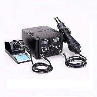Horusdy 2in1 Electric Soldering Station Kit Solder Iron Hot Air Gun Digital Display Screen Desoldering Rework With 11 Tips...