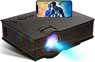 Portable Projector - TECHVIDA - Mini HD Projector Multimedia 480P, Multimedia Home Theater Video Projector - HDMI USB SD C...