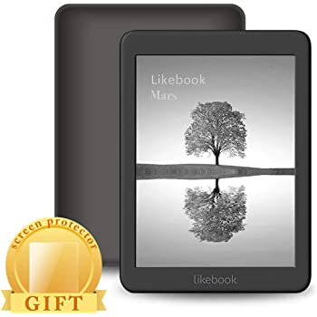 Likebook Mars E-Reader, 7.8' Carta Touch Screen,300PPI, 8Core Processor,Adjustable Built-in Warm/Cold Light, Built-in Audible, Support Google Play Store, Android 8.1