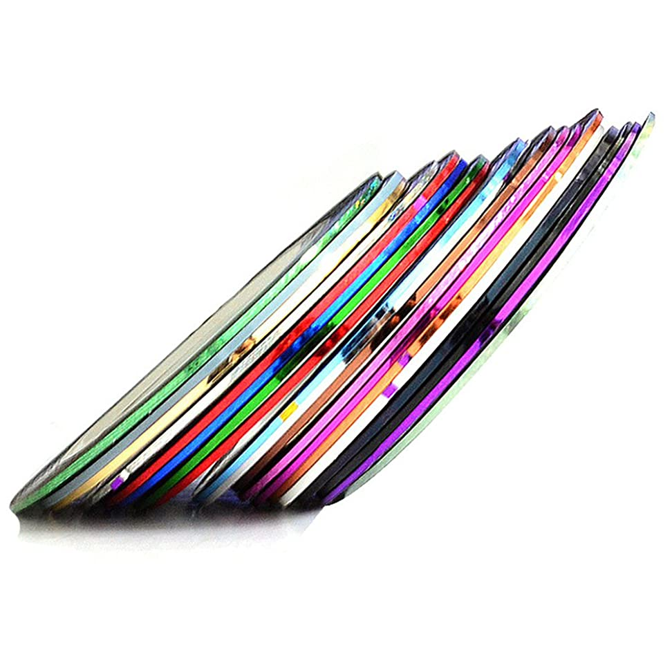 免除する市の中心部戦うVi.yo ネイルアート用ラインテープ ネイルデザインテープ DIYネイルチップ用 カラーネイルアートセット 30セット