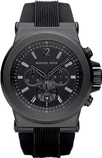 ساعة مايكل كورس سوداء للرجال بسوار من السليكون [MK8152]