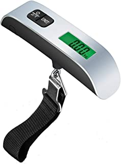 Ayanx 50kg Digital Electronic Luggage Scale Portable Suitcase Scale Handled Travel Bag Weighting Fish Hook Hanging Scale