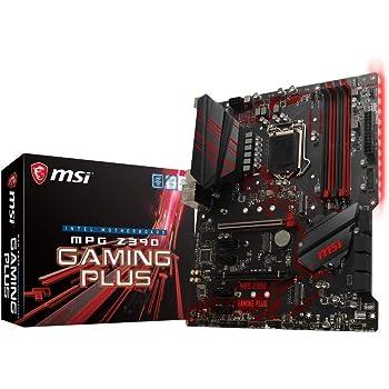 MSI MPG Z390 GAMING PLUS Carte mère, Prise LGA 1151, Noir