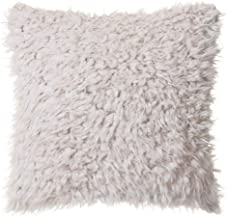 North End Decor Faux Fur 18x18 with Insert, Off-White Plush Throw Pillows, 18x18 Stuffed