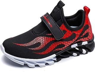 MEI NIAN GUAN Little Boys Slip On Sneakers Cool School Shoes Athletic Gym Running Tennis Sneaker for Kids