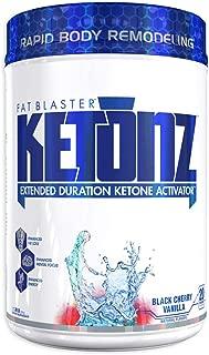VPX KETONZ Fat Blaster Extended Duration Ketone Activator BHB Zero Sugar Black Cherry Vanilla 20 Servings