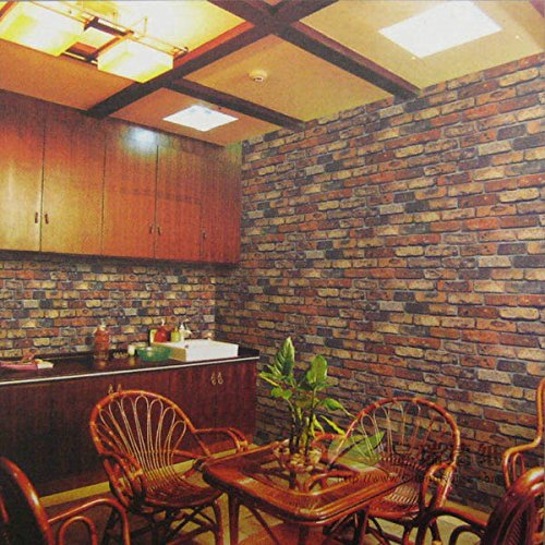 reyqing nuevo chino clásico papel pintado imitación ladrillo patrón Hotel Der Bar restaurante restaurante Osaka la fabricación de ladrillos papel pintado, Wallpaper only, 0031