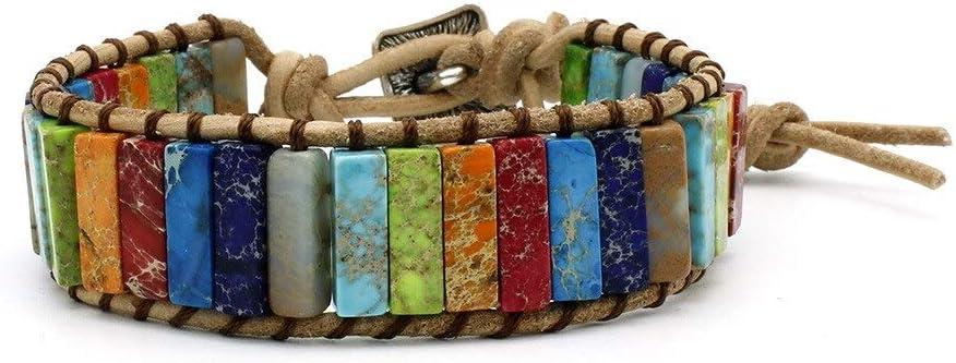 Vesna Colorful Chakra Bracelet Ranking TOP18 Super beauty product restock quality top Jewelry Tu Stone Natural Handmade