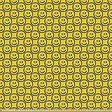ABAKUHAUS Emoticon Stoff als Meterware, Diagonal Smiling