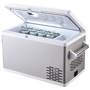 Boat Mini fridge freezer for Driving Truck Fishing Car Travel 55 Liter Vehicle Outdoor -4/°F to 68/°F RV Alpicool CF55 Portable Refrigerator 12 Volt Car Freezer 58 Quart