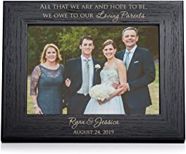 Lifetime Creations Personalized Parents of The Bride & Groom Picture Frame - Engraved Wedding Frame Parents Gift (Black) (5