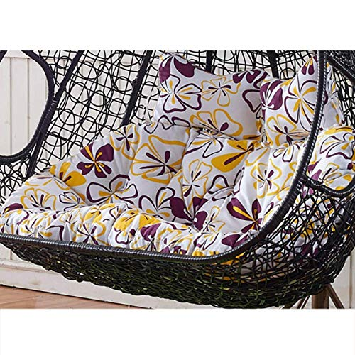 BYWHITE Swing Hanging Basket Seat Cushion Cotton Thick Outdoor For Patio Garden Wicker Swing Chair Seat Cushion Removable Quilting Hanging Egg Chair Pads-140x110cm(55x43inch) H