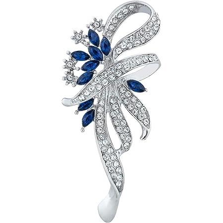 Merdia Creó El Pin De La Broche Del Estilo De La Vendimia De Lujo De Lujo Para Las Mujeres, Muchachas, Señoras, Color Azul