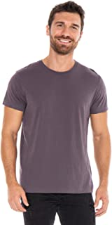 THE CLASSIC T-SHIRT COMPANY Men's Lightweight 100% Organic Cotton Semi-Fitted Crewneck Tshirt - Made in USA