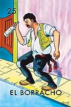 25 El Borracho The Drunk Loteria Card Mexican Bingo Lottery Laminated Dry Erase Sign Poster 12x18