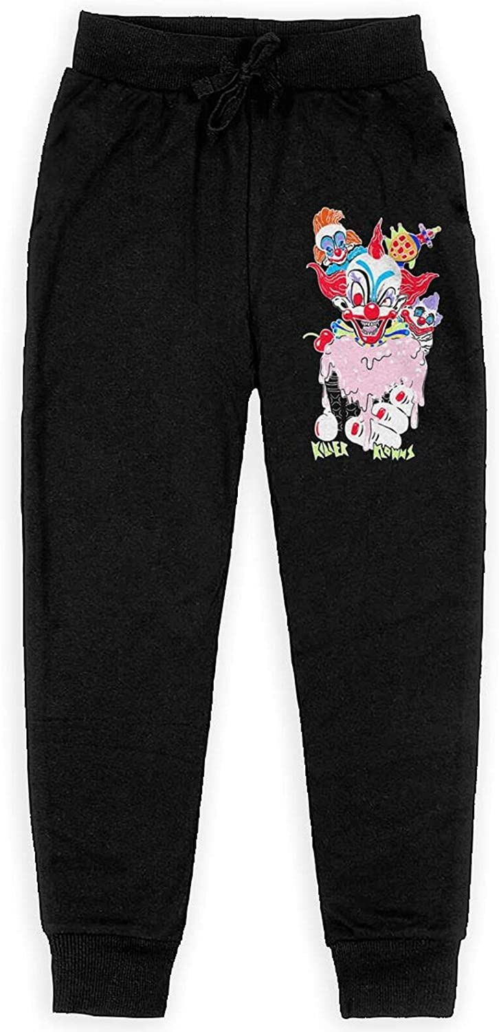 Douuddaosfa Killer Klowns from Outer Space Carton Sweatpants Teens Sport Slacks Athletic Fashion Pants for Boys Girls
