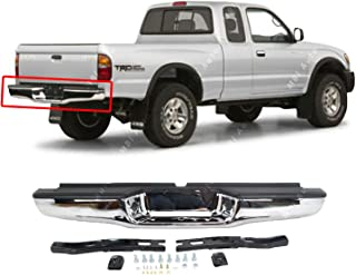 BUMPERS THAT DELIVER - Chrome, Steel Rear Step Bumper Assembly for 1995-2004 Toyota Tacoma Pickup 95-04, TO1102215