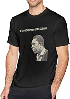 Mens Short Sleeve T-Shirt Shirt Tops Blouse John Coltrane A Love Supreme Casual V-Neck O-Neck