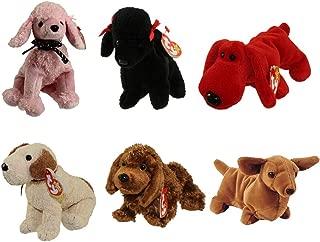 TY Beanie Babies - DOGS (Set of 6) (Brigitte, Gigi, Rover, Rufus, Seadog & Weenie) (5.5-7.5 inch)