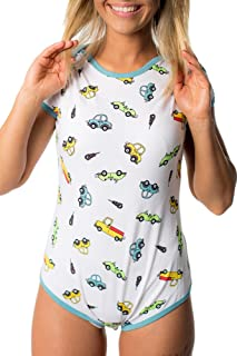 Littletude ABDL Onesie | Adult Baby Snap Crotch Romper Style | Toy Cars