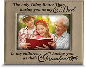 BELLA BUSTA-The only Thing Better Than Having You as My Dad is My Children Having You as Their Grandpa Gift for Grandpa-Engraved Leather Picture Frame (4