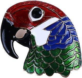 Oce180anYLV Creativo Spilla Pin Cartoon Smalto Pappagallo Testa Distintivo Collare Bavero Spilla Pin Vestiti Gioielli Decor
