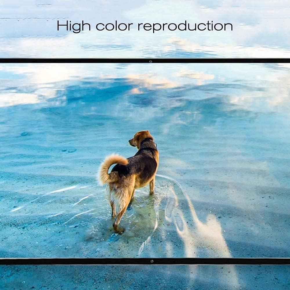 縦断勾配 Portable Projector Screen Foldable Portable 4K 3D Projection Screen, 16: 9 84 Inch Gray Glass Fiber Projector Movies Screen Projector Screen Gain Effect 1.8 Times.