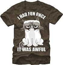 Grumpy Cat Men's Fun Cartoon T-Shirt