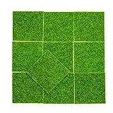 YMH PRIDE 10 pièces herbe artificielle mini gazon moderne gazon bricolage fée jardin maison de poupée pelouse jardin pelouse pour jardin paysage balcon bureau décoration de la maison (15 cm * 15 cm)