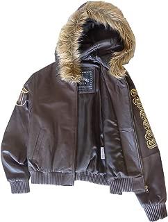 Excelled Girls Looney Tunes Tweety Leather Jacket (L, Brown)