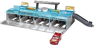 Disney Pixar Cars Coffret Lanceur Suprême pour propulser jusqu'à 8 voitures, véhicule Flash McQueen inclus, jouet pour enf...