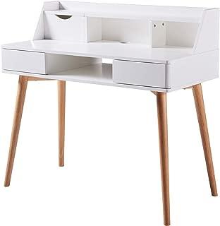 Versanora - Creativo Stylish Desk - White/Natural