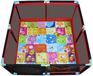 LOVE BABY Lovebaby Playpen Baby Playground with Crawling Mat  amp  200 Balls  Portable Play Yard for Infants Toddler  66cm Tall  Size 128x128cm