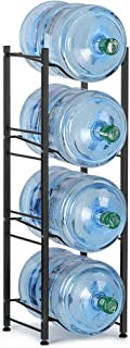 LIANTRAL 5 Gallon Water Jug Holder Water Bottle Storage Rack, 4 Tiers, Black